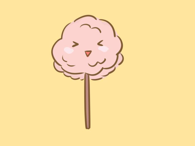 粉色的棉花糖简笔画要怎么画