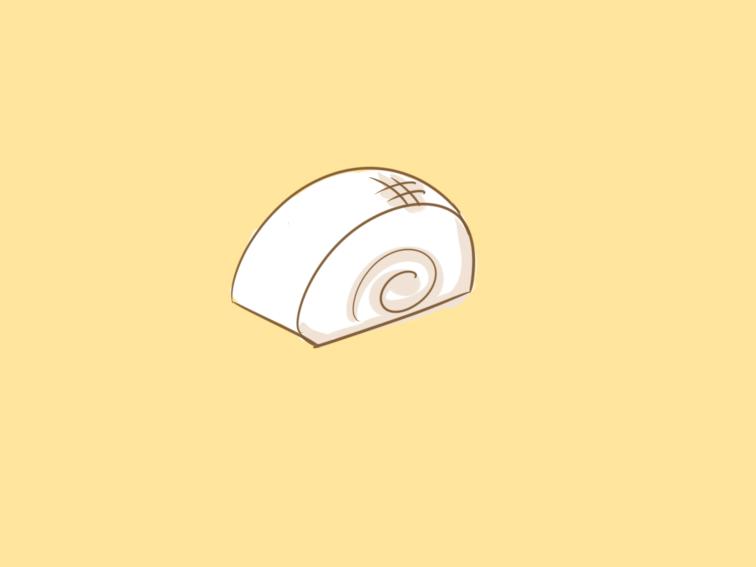 奶香的饅頭簡筆畫要怎么畫