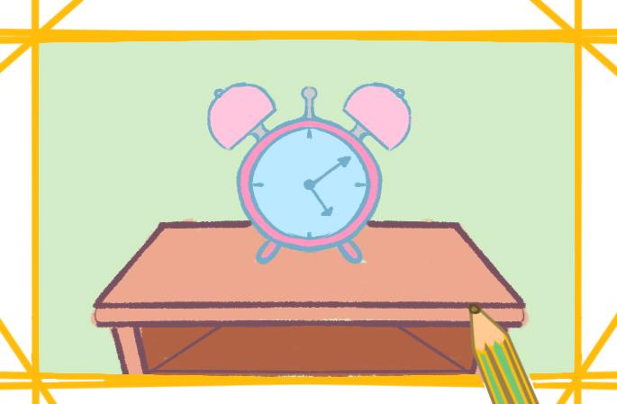 學生鬧鐘上色簡筆畫要怎么畫