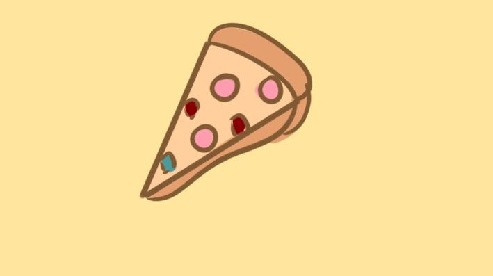 美味的披萨简笔画要怎么画