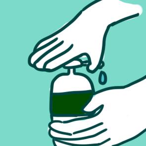 疫情期间勤洗手简笔画教程
