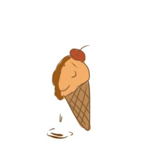 融化的冰淇淋简笔画怎么画