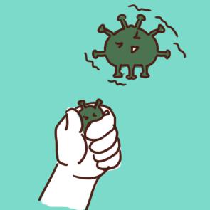 关于打败新型病毒简笔画要怎么画