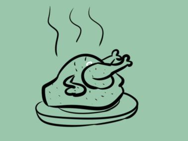 美味的烧鸡简笔画要怎么画