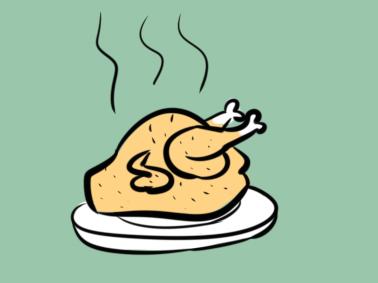 美味烧鸡简笔画要怎么画