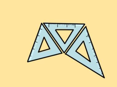 数学用的三角板简笔画要怎么画