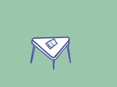 超简单的三角桌简笔画步骤图