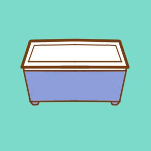 家用塑料箱简笔画要怎么画