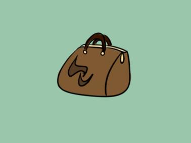褐色的手提包简笔画要怎么画