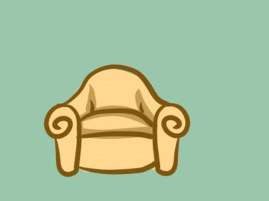 柔软的沙发简笔画要怎么画