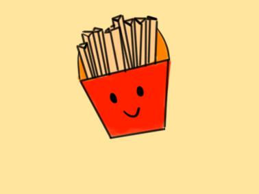 金黄色的薯条简笔画要怎么画