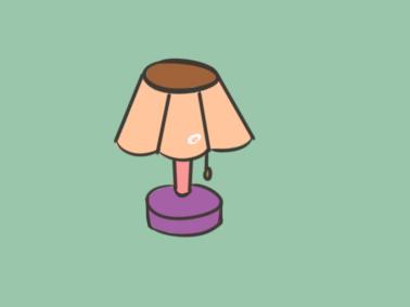 超简单的台灯儿童简笔画步骤图