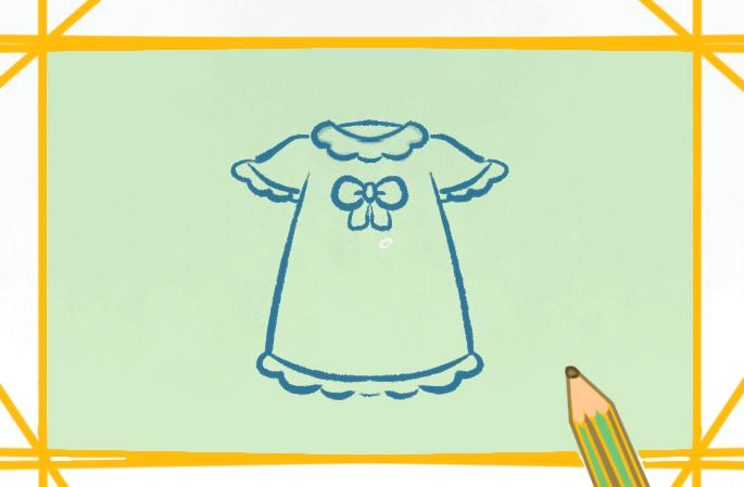 好看的儿童服装上色简笔画图片教程
