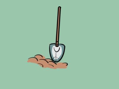 铲土的铲子简笔画要怎么画
