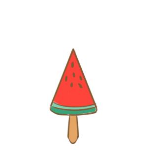 西瓜冰棍简笔画怎么画