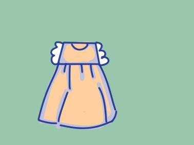 漂亮的连衣裙上色简笔画图片教程