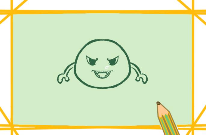 新型冠状病毒上色简笔画要怎么画图片