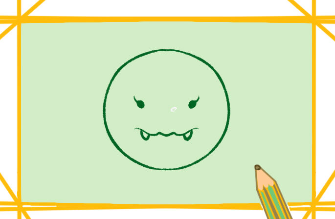 卡通新型冠状病毒简笔画图片教程