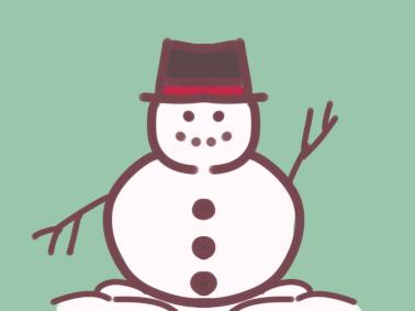 冬天的雪人简笔画要怎么画 雪人简笔画