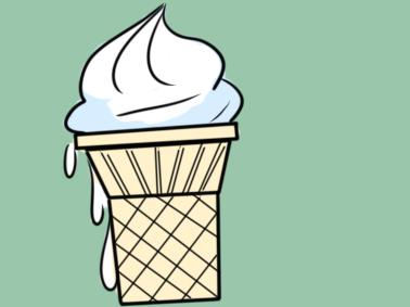 卡通冰淇淋简笔画要怎么画