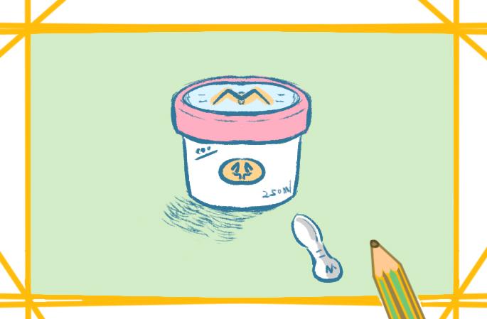 美味雪糕上色简笔画要怎么画