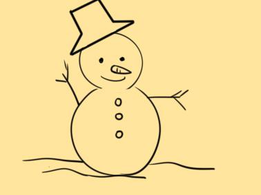 超简单的雪人简笔画原创教程步骤