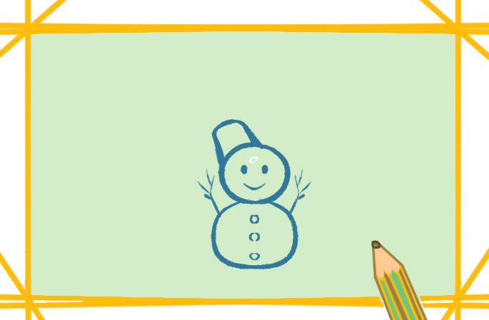冬天的雪人小学生简笔画图片要怎么画