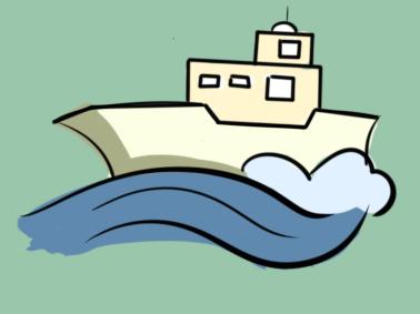 简单的游轮简笔画要怎么画