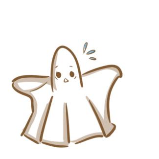可爱的小幽灵的简笔画原创教程步骤