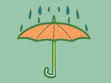 一把雨伞儿童简笔画要怎么画