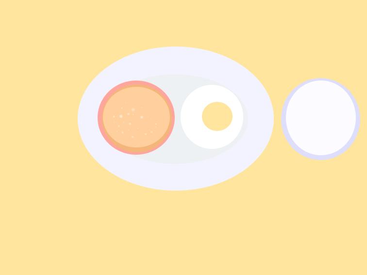 西式早餐簡筆畫怎么畫