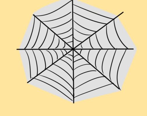 超簡單的蜘蛛網簡筆畫原創教程步驟