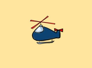 可爱的直升机简笔画要怎么画