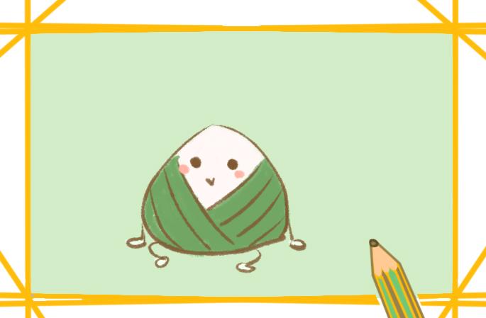 端午节的粽子好看的简笔画图片教程