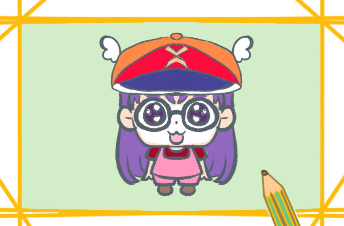 动漫角色阿拉蕾简笔画图片教程