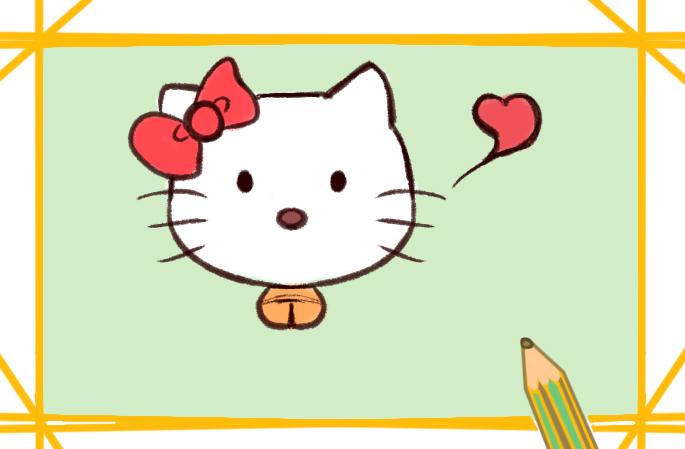卡通凯蒂猫简笔画图片教程