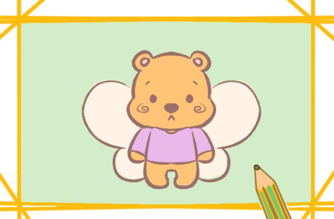 蜜蜂维尼熊简笔画要怎么画