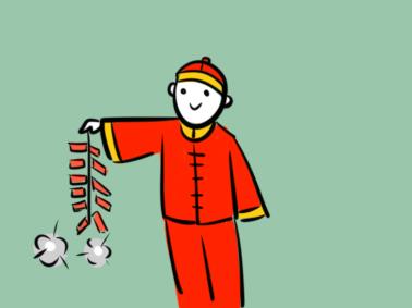 放鞭炮的小孩簡筆畫要怎么畫 兒童簡筆畫要怎么畫