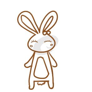 漂亮的卡通兔简笔画要怎么画