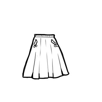 漂亮的半身裙简笔画要怎么画