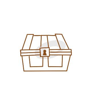 珠宝箱简笔画彩色-宝箱简笔画彩色