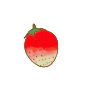 学画漂亮的草莓简笔画