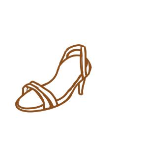 漂亮的凉鞋简笔画