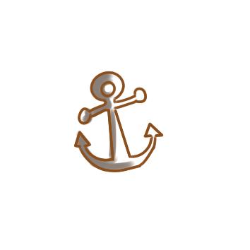 超简单的船锚简笔画步骤图