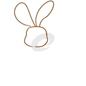 又简单又好看的童话兔子简笔画