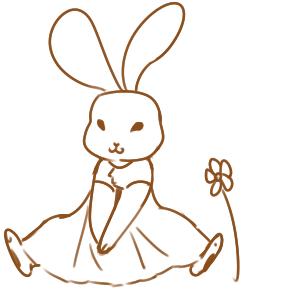 童话故事的兔子简笔画要怎么画