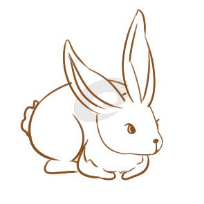 又简单又好看的大白兔简笔画