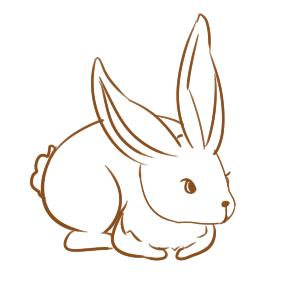 又簡單又好看的大白兔簡筆畫