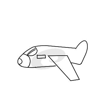 超简单的大飞机简笔画步骤图