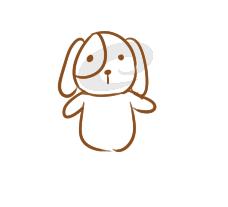 卡通狗狗简笔画怎么画